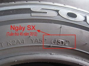 Trên lốp in ngày sản xuất lốp