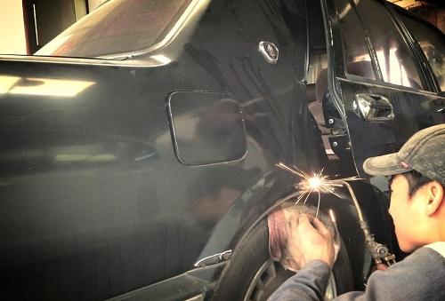 Quy trình sơn gò hàn ô tô