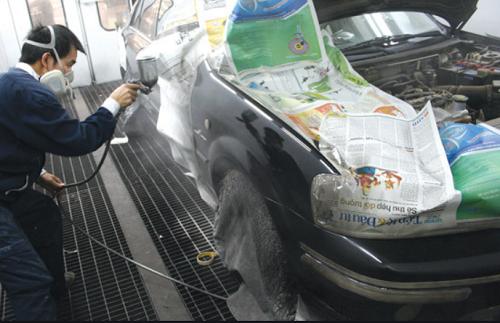 Thợ sơn gò hàn ô tô