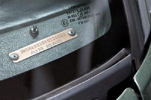 vị trí số khung xe ô tô