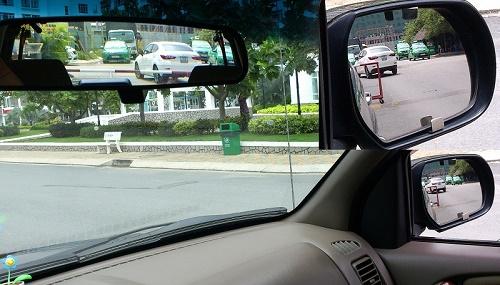 Chỉnh gương chiếu hậu đúng cách, an toàn