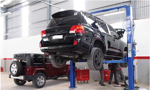 xe ô tô sau khi bảo dưỡng và sửa chữa