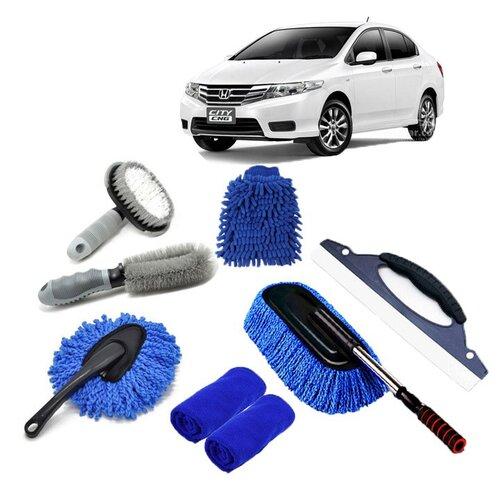chuẩn bị dụng cụ rửa xe